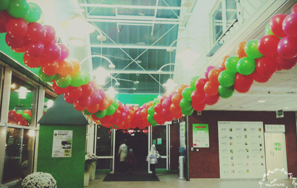 Girlandy z balonów